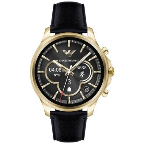 ART5004 Emporio Armani Connected Touch Screen Leather Smartwatch