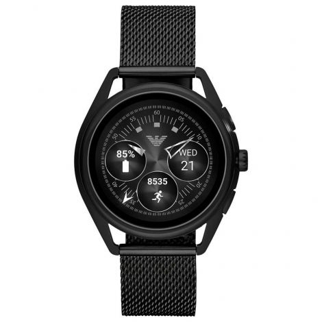 ART5019 Emporio Armani Connected Mesh Stainless Touch Screen Smartwatch