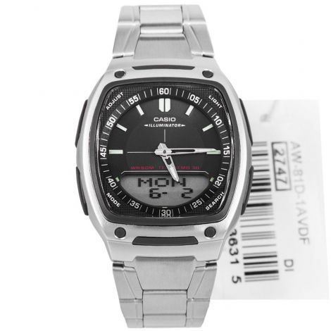 Casio Standard Black Square Dial Mens Watch AW-81D-1AVDF AW81D
