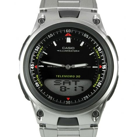 Casio AW-80D-1AV AW80D-1A Telememo World Time Watch