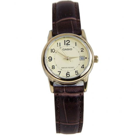 Casio LTP-V002G-9B LTPV002G-9B Female Leather Watch