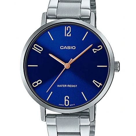 Casio LTP-VT01D-2B2 LTPVT01D-2B2 LTP-VT01D-2B2UDF Ladies Stainless Steel Watch