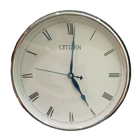 Citizen 17-A7238 Silver Analog Wall Clock