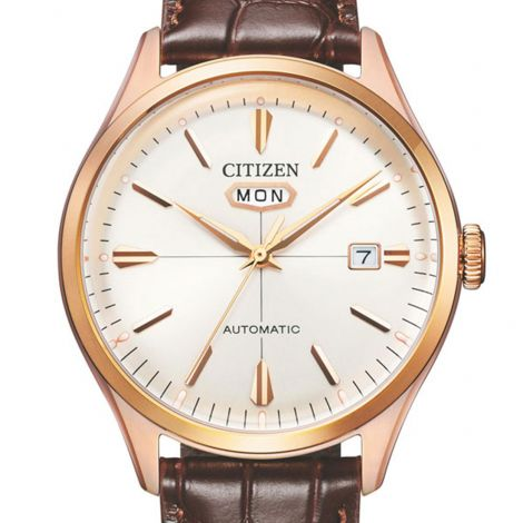 Citizen NH8393-05A Leather Automatic Dress Watch