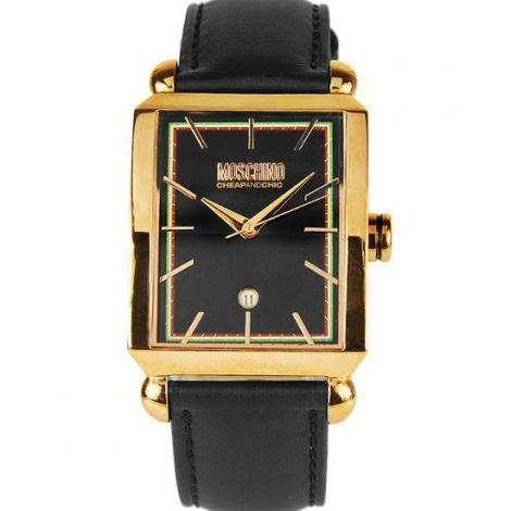 Moschino Quartz Mens Fashion Analog Rose Gold Plated Watch MW0207