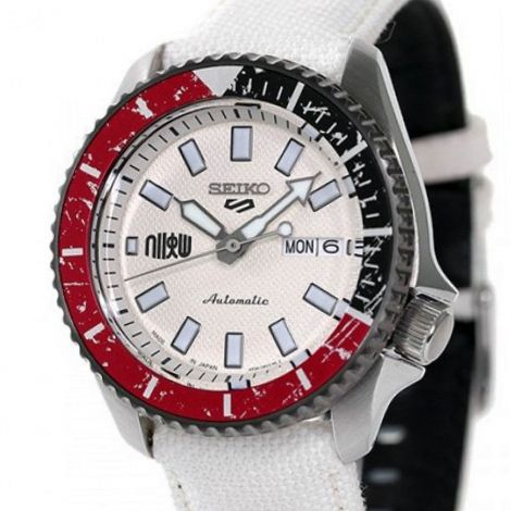 Seiko 5 Sports Ryu Street Fighter White Watch SBSA079