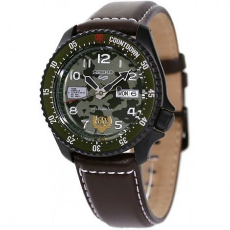 Seiko 5 Sports Guile Street Fighter Camouflage Watch SBSA081 SRPF21 SRPF21K SRPF21K1