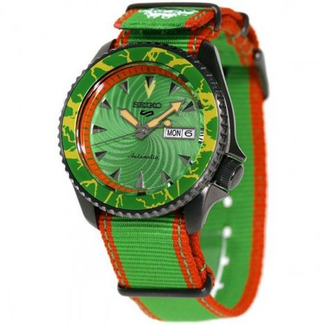 Seiko 5 Sports Blanka Street Fighter Green Watch SBSA083 SRPF23 SRPF23K SRPF23K1