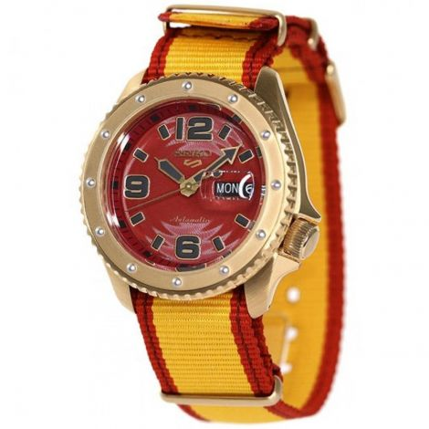 Seiko 5 Sports Zangief Street Fighter Yellow Watch SBSA084