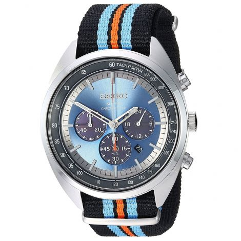 Seiko Recraft Solar Chronograph Nylon Watch SSC667