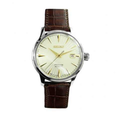 Seiko Cocktail Presage SRPC99J SRPC99 Mens Leather Watch