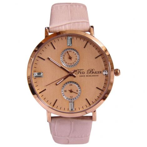 TE2104 Ted Baker Casual Quartz Analog Pink Leather Ladies Watch
